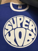 SUPER YOB T-SHIRT BLUE WHITE TRIM